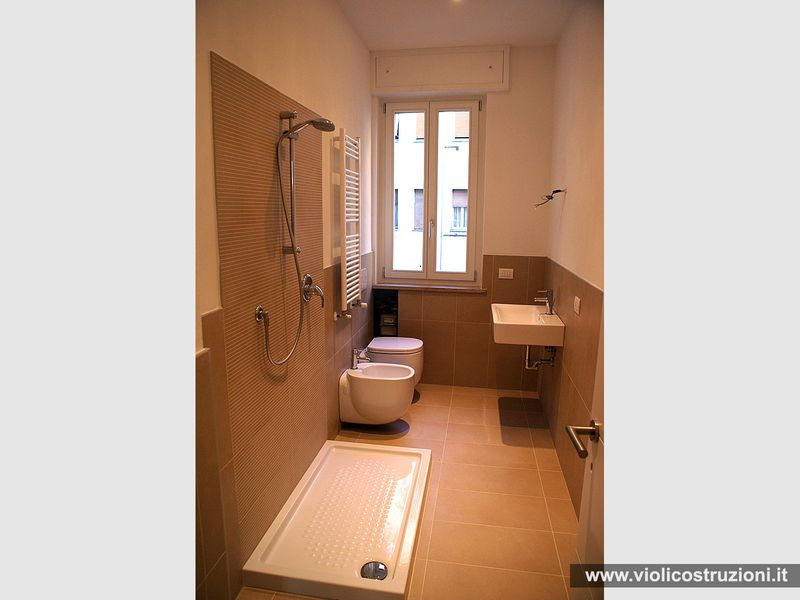 Bagni opere realizzate violi costruzioni - Rivestimento bagno rustico ...